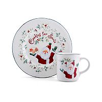 Pfaltzgraff Winterberry 2 pc ''Cookies for Santa'' Set