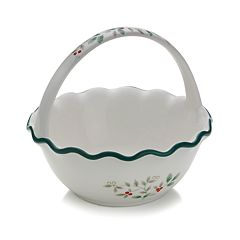 Pfaltzgraff Winterberry Handled Basket