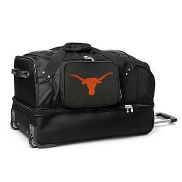Texas Longhorns 27-Inch Rolling Duffel Bag