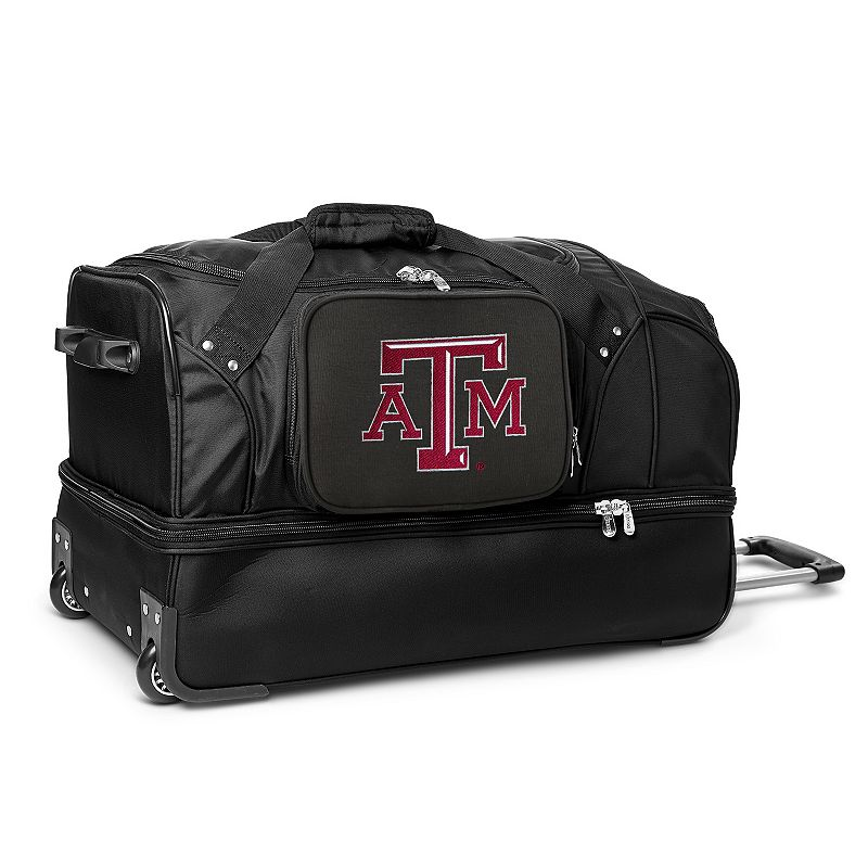 Texas A & M Aggies 27-Inch Rolling Duffel Bag, Black