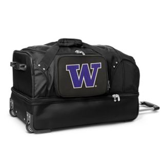 Washington Huskies 27-Inch Rolling Duffel Bag