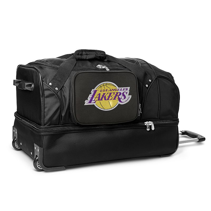 Los Angeles Lakers 27-Inch Rolling Duffel Bag, Black