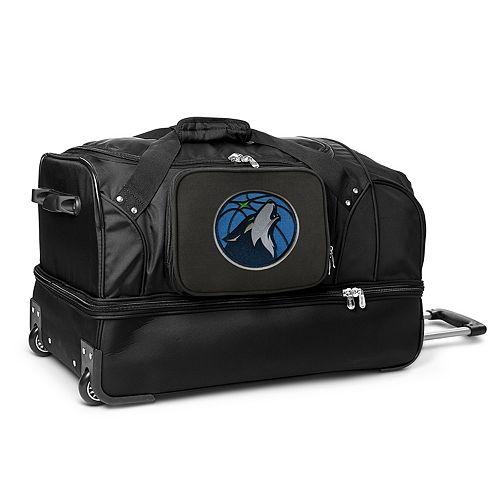 Minnesota Timberwolves 27-Inch Rolling Duffel Bag
