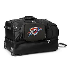 Oklahoma City Thunder 27-Inch Rolling Duffel Bag