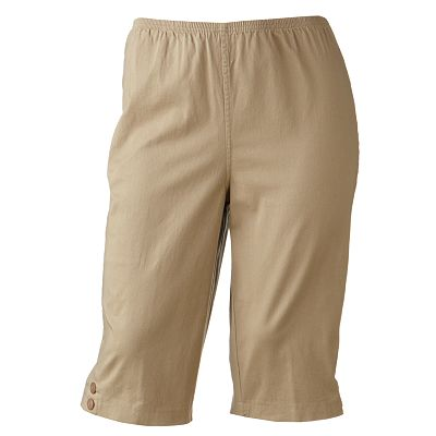 Croft and Barrow Pull-On Skimmer Pants - Women's Plus