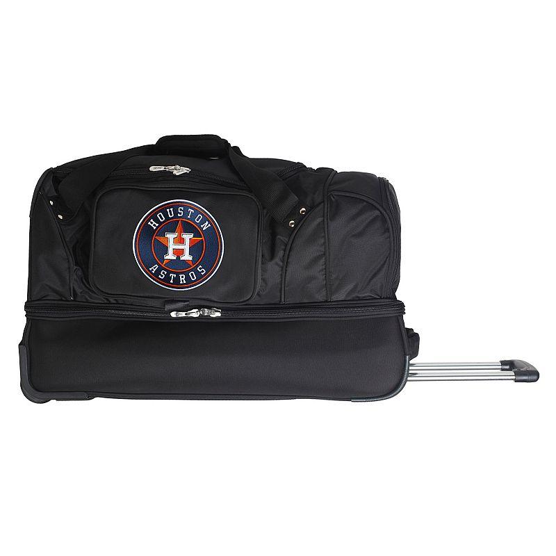 Houston Astros 27-Inch Rolling Duffel Bag, Black