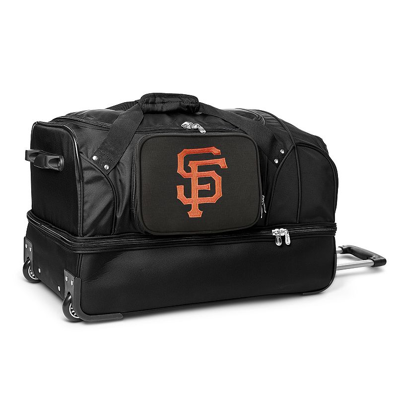 San Francisco Giants 27-Inch Rolling Duffel Bag, Black