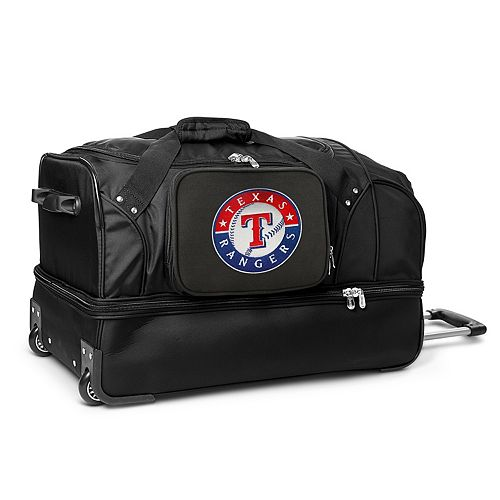 Texas Rangers 27-in. Wheeled Drop-Bottom Duffel Bag