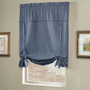 United Curtain Co. Blackstone Blackout Tie-Up Shade - 40'' x 63''