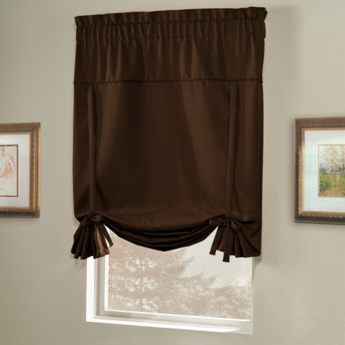 United Curtain Co. Blackstone Blackout Tie-Up Shade - 40