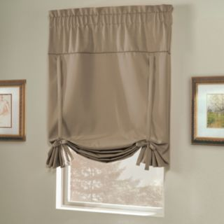 United Curtain Co. Blackout 1-Panel  Blackstone Tie-Up Shade - 40'' x 63''