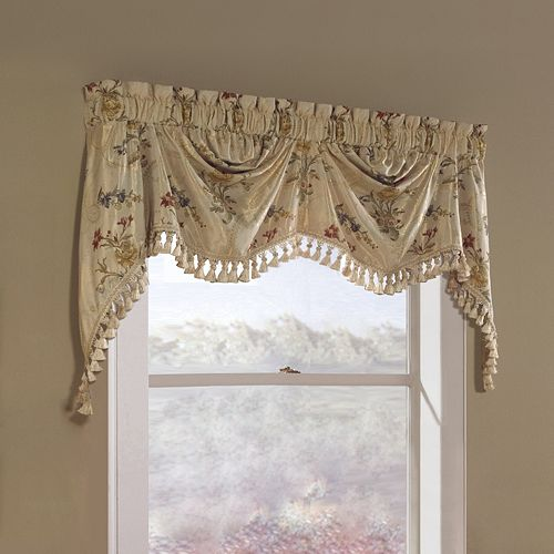 United Curtain Co. Jewel Austrian Window Valance - 30'' x 108''