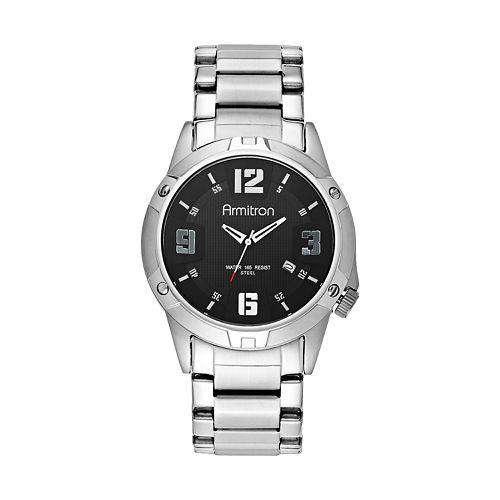 Armitron Men's Stainless Steel Watch - 20/4692BKSV