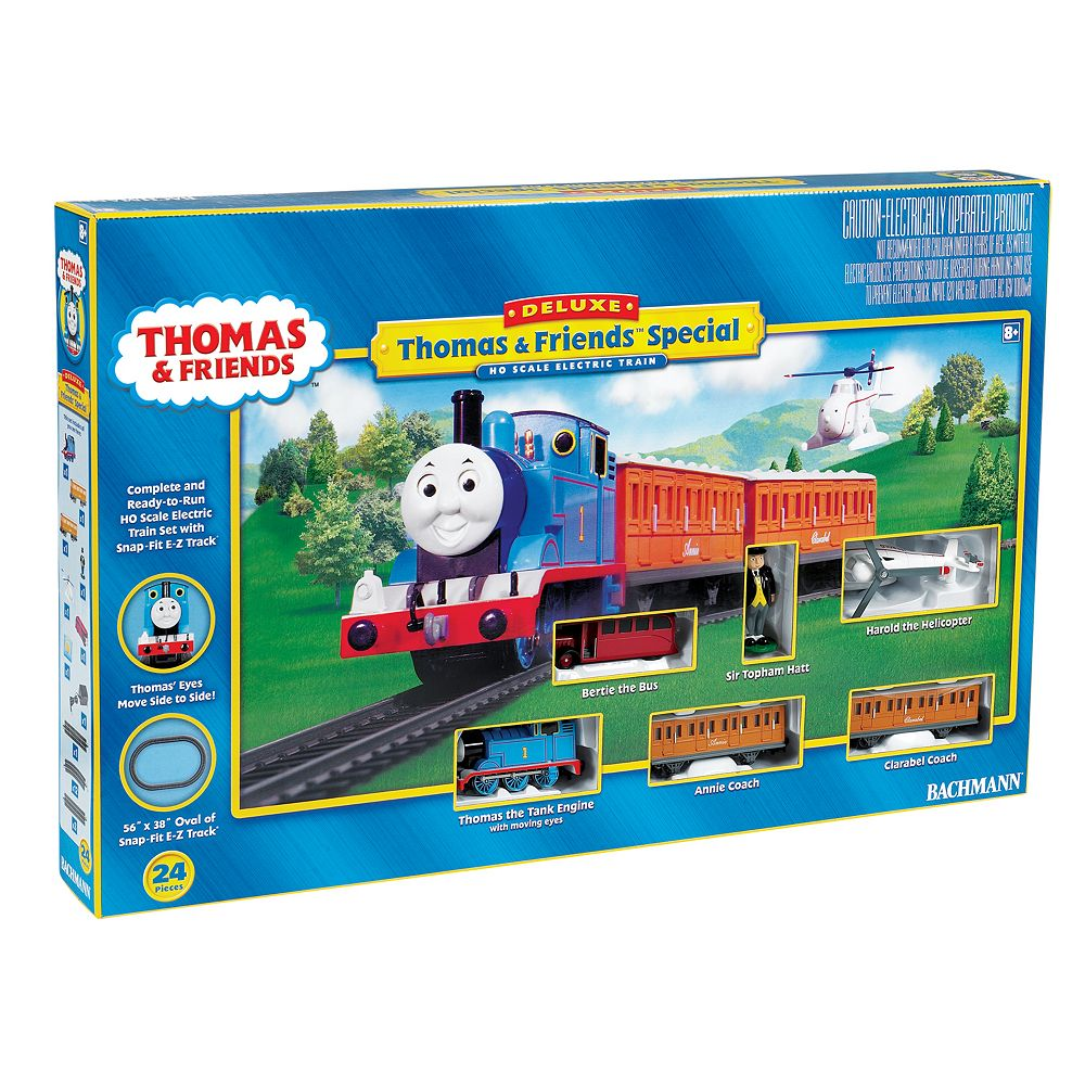 Thomas & Friends Thomas the Tank Engine Deluxe HO Scale Electric Train Set by Bachmann