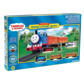 Thomas and Friends Thomas the Tank Engine Deluxe HO Scale Electric Train Set by Bachmann