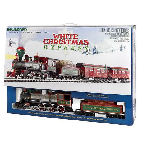Bachmann G Scale White Christmas Express Train Set