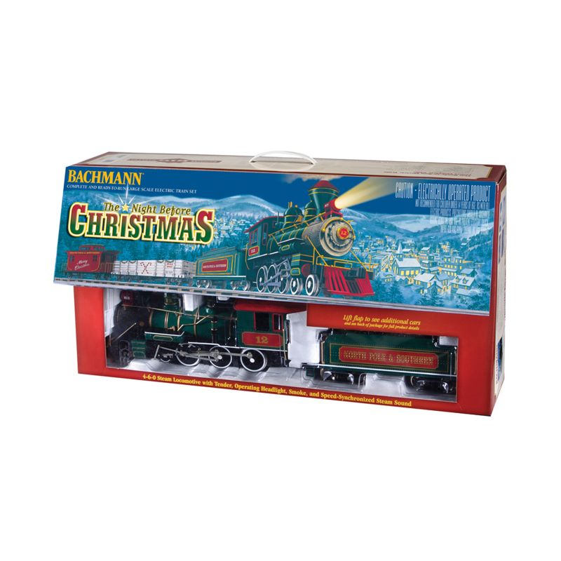 BachmannG Scale Night Before Christmas Electric Train Set