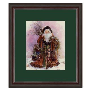 Santa's Bounty Framed Art Print by Peggy Abrams