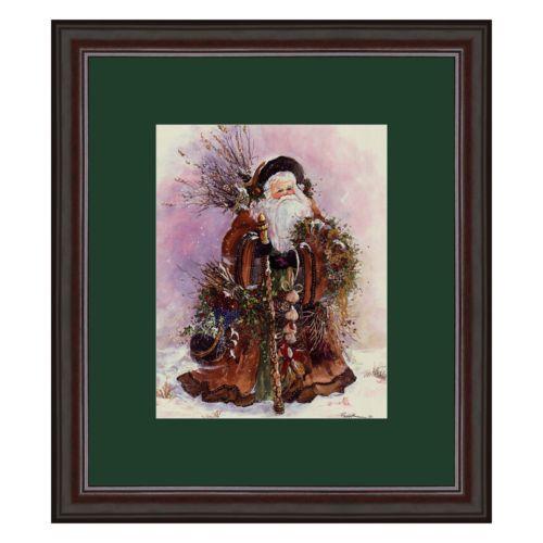 Santa's Bounty Framed Art Print by Peggy Abrams