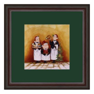 Christmas Waiters Framed Art Print by Tracy Flickinger