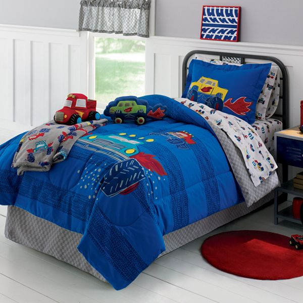 Jumping Beans Monster Truck 6 Pc Bed Set Twin