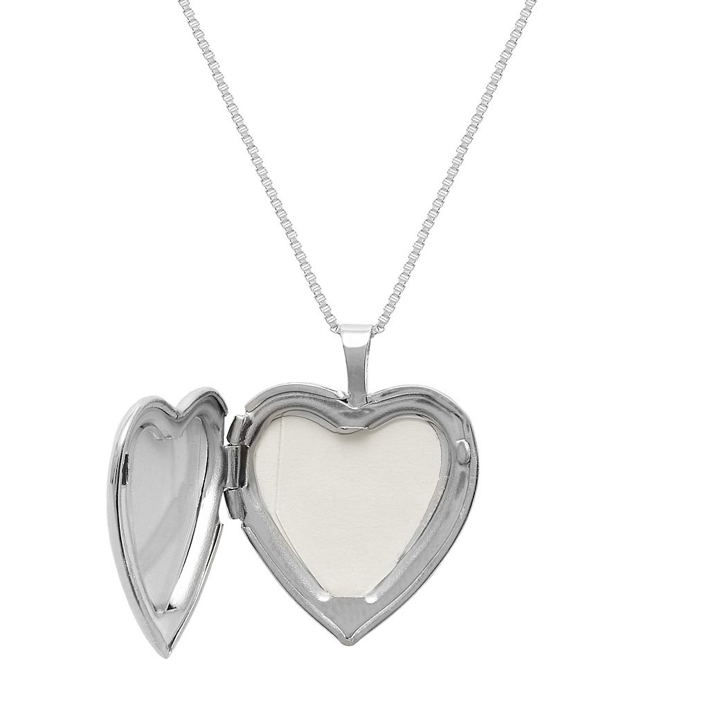Sterling Silver Grandma Flower Heart Locket