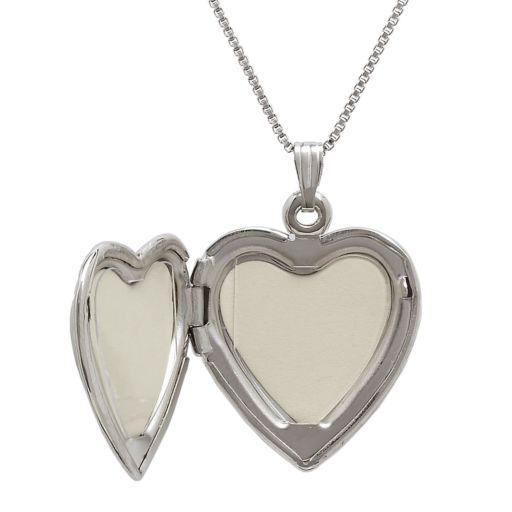Sterling Silver Mother-of-Pearl Cross Heart Locket
