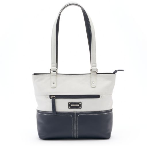 Stone and Co. Donna Colorblock Leather Tote