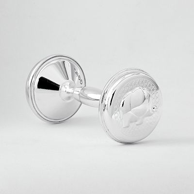 CoCaLo Baby Silver Collection Rattle