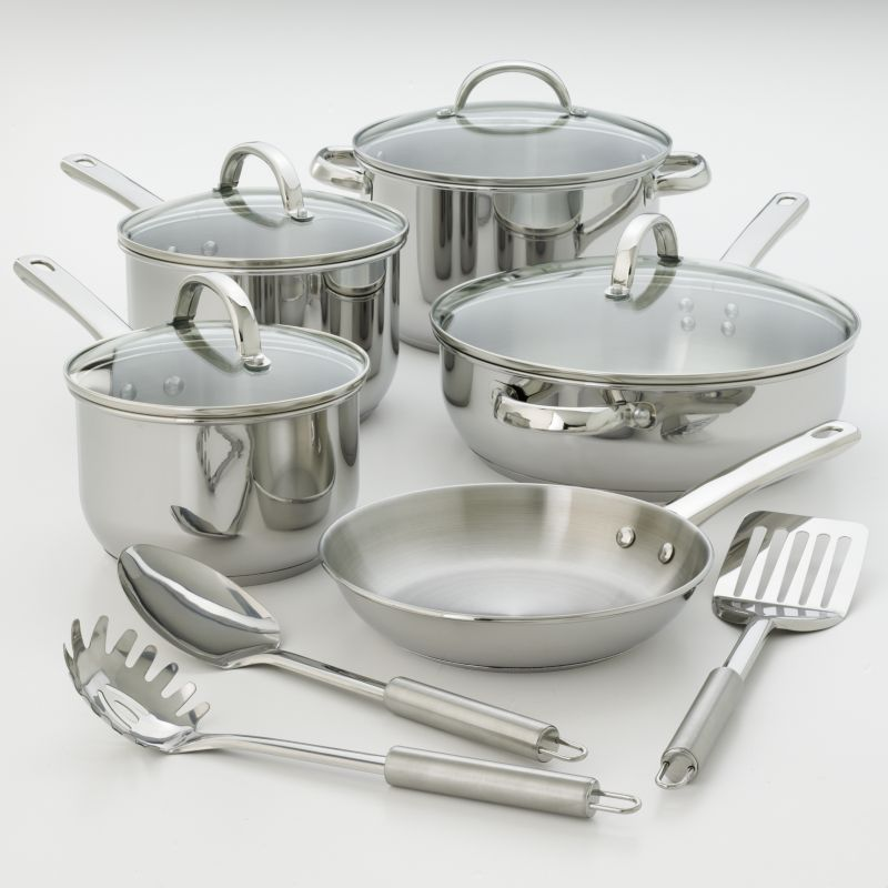 Kitchen la carte 12-pc. Stainless Steel Cookware Set