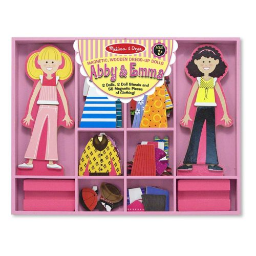 Melissa and Doug Abby and Emma Magnetic Dress-Up Playset