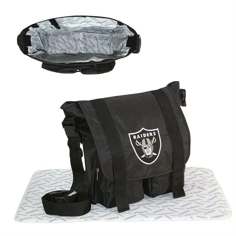 Oakland Raiders Diaper Bag (Black/Sliver/White)