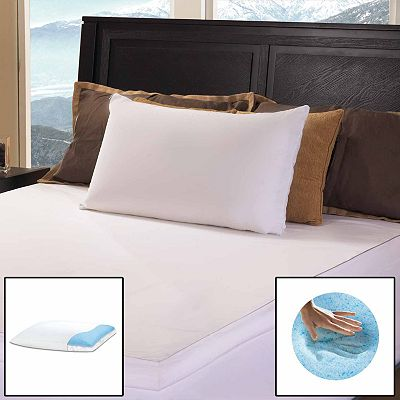 Gel Memory Foam and Fiber Reversible Pillow - Standard/Queen