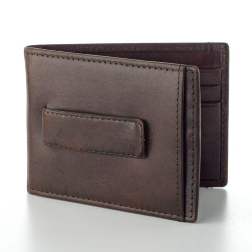 Croft & Barrow® Leather Slimfold Wallet