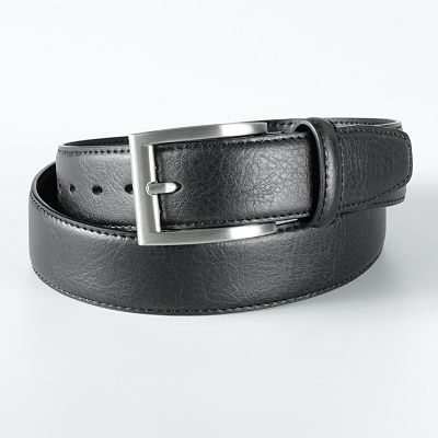 Haggar Edge-Stitched Leather Belt