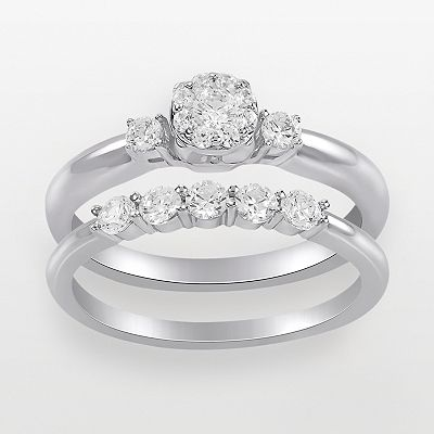 Endless Diamond 14k White Gold 1/4-ct. T.W. Round Cut Diamond Ring Set
