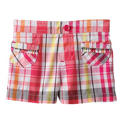 Jumping Beans Plaid Patch Pocket Woven Shorts - Baby
