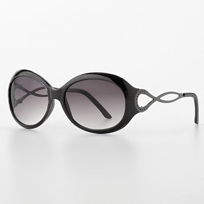 daisy fuentes Twisted Oval Sunglasses