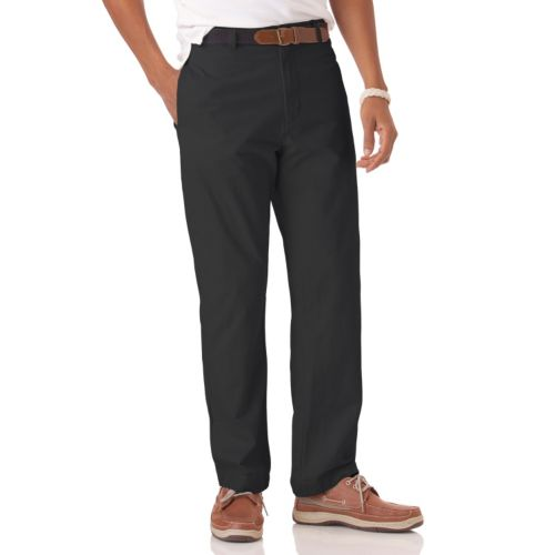 Chaps Classic-Fit Flat-Front Chino Pants - Big and Tall