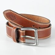 Wolverine Double-Row Border Stitch Leather Belt