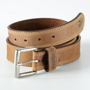 Wolverine Border Stitch Leather Belt