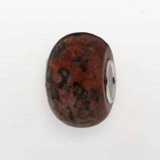 Individuality Beads Sterling Silver Leopard Jasper Bead