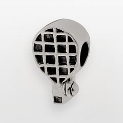 Individuality Beads Sterling Silver Tennis Racquet Bead