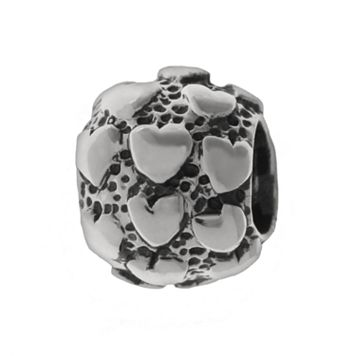 Individuality Beads Sterling Silver Hearts Spacer Bead