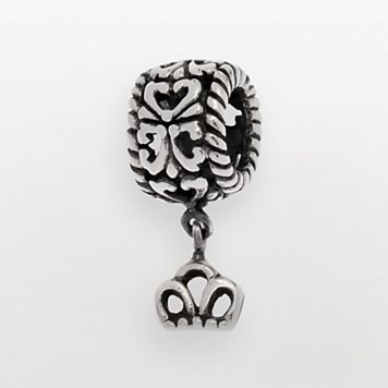 Individuality Beads Sterling Silver Crown Charm Bead