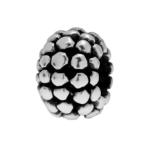 Individuality Beads Sterling Silver Raised Dots Spacer Bead