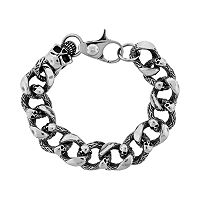 LYNX Stainless Steel Skull Bracelet - Men