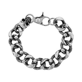 LYNX Stainless Steel Skull Bracelet - Men