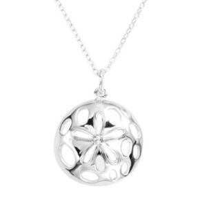 Jewelry for Trees Platinum Over Silver Sand Dollar Pendant
