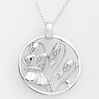 Jewelry for Trees Platinum Over Silver Butterfly Pendant